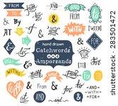 hand lettered ampersands and... | Shutterstock .eps vector #283501472