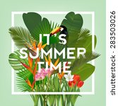 it's summer time typographical... | Shutterstock .eps vector #283503026