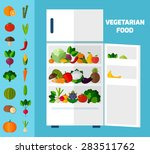 fruits and vegetables... | Shutterstock .eps vector #283511762