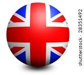 england globe flag | Shutterstock . vector #28351492