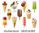 highly detailed ice cream set | Shutterstock .eps vector #283516385