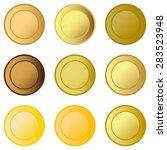 set medals   Shutterstock .eps vector #283523948