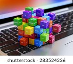 programming concept. different... | Shutterstock . vector #283524236