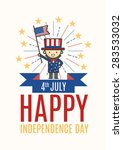 fourth of july happy... | Shutterstock .eps vector #283533032