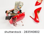 Ladies Handbag And Shoes With...