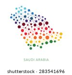 dotted texture saudi arabia... | Shutterstock .eps vector #283541696