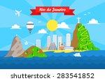 rio de janeiro colorful... | Shutterstock .eps vector #283541852