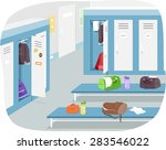 illustration of a male locker...