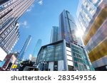 low angle view of skyscrapers | Shutterstock . vector #283549556