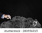 close up of businessman hand... | Shutterstock . vector #283556315