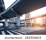 below the viaduct of the city | Shutterstock . vector #283556825