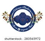 blueberry design over white... | Shutterstock .eps vector #283565972