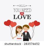 wedding card design over white... | Shutterstock .eps vector #283576652