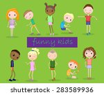 collection of funny children in ... | Shutterstock .eps vector #283589936