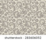 lace. seamless pattern. floral... | Shutterstock .eps vector #283606052