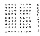 house system icons. set icons... | Shutterstock .eps vector #283606298