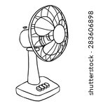 Electric Fan   Cartoon Vector...