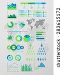 world map infographic. vector...   Shutterstock .eps vector #283615172