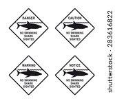 caution warning danger no... | Shutterstock .eps vector #283616822