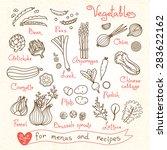 set drawings of vegetables for...   Shutterstock .eps vector #283622162