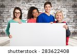 youth  white  group. | Shutterstock . vector #283622408