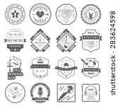 set of vector badges and logos... | Shutterstock .eps vector #283624598