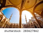 famous blue mosque sultan ahmet ...   Shutterstock . vector #283627862