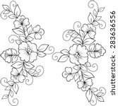 flower vector ornament frame.... | Shutterstock .eps vector #283636556