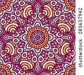 seamless pattern. vintage... | Shutterstock .eps vector #283637942