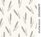 seamless pattern with millet.... | Shutterstock .eps vector #283638695
