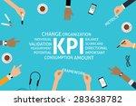 vector kpi concept template | Shutterstock .eps vector #283638782