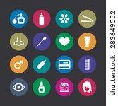 beauty salon icons universal... | Shutterstock . vector #283649552