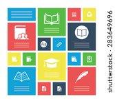 books icons universal set for...   Shutterstock . vector #283649696