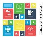 books icons universal set for...   Shutterstock . vector #283650632
