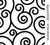 seamless pattern with black... | Shutterstock .eps vector #283650998