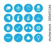 barbershop icons universal set... | Shutterstock . vector #283651166