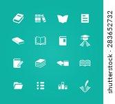 books icons universal set for... | Shutterstock . vector #283652732