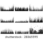 set of vector grass silhouettes ... | Shutterstock .eps vector #28365595