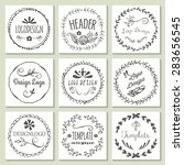 hand drawing logo design with... | Shutterstock .eps vector #283656545