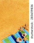 summer tropical beach... | Shutterstock . vector #283659836