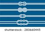 sailor knot dividers set.... | Shutterstock .eps vector #283660445