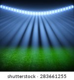 the soccer stadium with the... | Shutterstock . vector #283661255