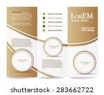 tri fold brochure template | Shutterstock .eps vector #283662722