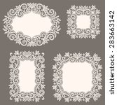 white lace frames. set. | Shutterstock .eps vector #283663142