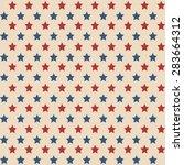 american patriotic stars... | Shutterstock .eps vector #283664312