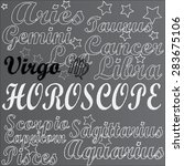 horoscope. virgo. | Shutterstock .eps vector #283675106