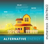 alternative energy types  ... | Shutterstock .eps vector #283678622