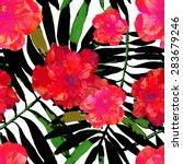 vector illustration of floral... | Shutterstock .eps vector #283679246
