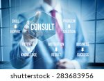 business consult concept ... | Shutterstock . vector #283683956