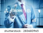 business coaching concept ... | Shutterstock . vector #283683965